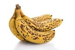 Cluster van over rijpe bananen Royalty-vrije Stock Foto
