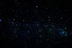 Cluster van sterren bij nacht Royalty-vrije Stock Fotografie