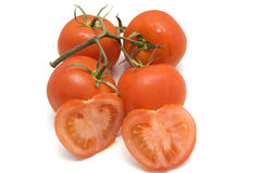 Cluster van tomaten royalty-vrije stock fotografie