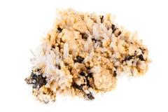 Cluster van zink-pyriet, sfaleriet Stock Afbeeldingen