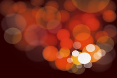Cluster of warm bright lights Stock Photography