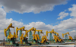 Cluster well. In the heilongjiang china Royalty Free Stock Photography