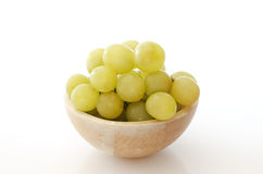 Cluster of white grapes on a white background Royalty Free Stock Photos