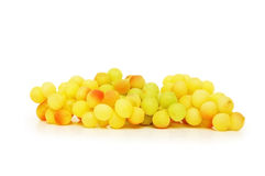 Cluster of yellow grapes Royalty Free Stock Images