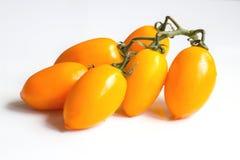Cluster yellow tomato Stock Photo