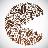 Coffee Bean Face Stock Image