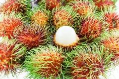 Clusters of fresh ripe rambutan Royalty Free Stock Images