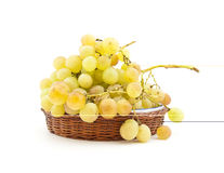 Clusters of muscat grapes on a dish Royalty Free Stock Photography