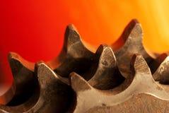 Clusters op oranje achtergrond Stock Afbeeldingen