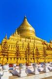 Clusters of zayats, The Shwezigon Pagoda Royalty Free Stock Photography