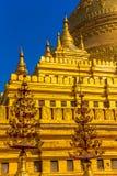 Clusters of zayats, The Shwezigon Pagoda Royalty Free Stock Photo