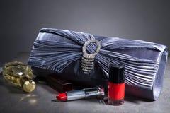 Clutch bag in an elegant design Stock Images