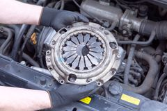 Clutch basket replacement Stock Photo