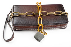 Clutch, chained with a padlock Stock Photography