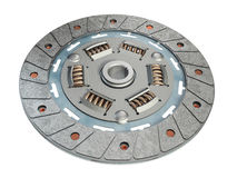 Clutch disc. Three dimensional visualization of clutch disc, autospare vector illustration