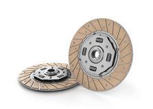Clutch disc car on white background. (done in 3d Royalty Free Stock Photos