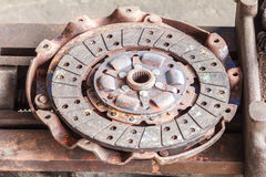Clutch disc of engine. Royalty Free Stock Photography