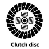 Clutch disc icon, simple black style Stock Image