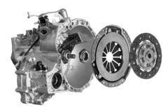Free Clutch Disc With Clutch Basket And Bearing And Gearbox Royalty Free Stock Photography - 151345277