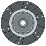 Clutch disk. On a white background vector illustration