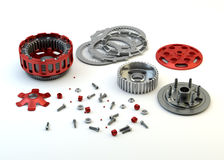 Clutch parts disassembled isolated Royalty Free Stock Photo