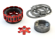 Clutch parts disassembled isolated Stock Images