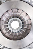 Clutch plate  on white Stock Image
