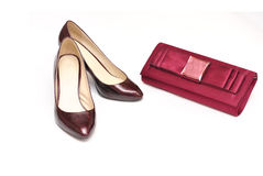 Clutch and shoes Stock Photography