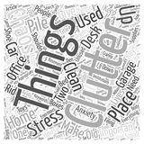 Clutter and Chaos two things that can give you enormous stress word cloud concept word cloud concept background. Text royalty free illustration