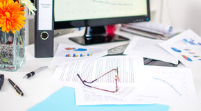 Cluttered desk Royalty Free Stock Photography