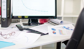 Cluttered desk Stock Photography