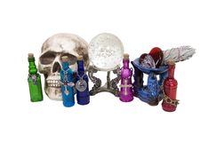 Cluttered Witch Table Royalty Free Stock Photo
