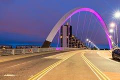 Clyde Arc Bridge Glasgow lizenzfreies stockbild