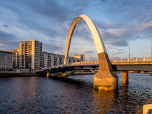 Clyde Arc bro, Glasgow Royaltyfri Bild