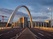 Clyde Arc bro, Glasgow Arkivbilder