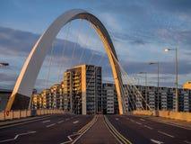 Clyde Arc bro, Glasgow Arkivfoton