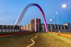 Clyde Arc, Glasgow, Skottland Arkivbild