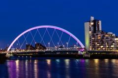 Clyde Arc, Glasgow, Skottland Arkivfoto