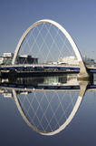 Clyde Arc or squinty bridge in Glasgow Stock Photos