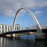 Clyde Arch Glasgow. A new bridge across River Clyde Scotland Stock Photos