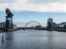 Clyde Auditorium, arène hydraulique et Finnieston tendent le cou, Glasgow Images stock