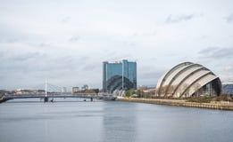 Clyde Auditorium, arène hydraulique et Finnieston tendent le cou, Glasgow Image libre de droits