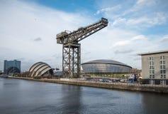 Clyde Auditorium, arena hidráulica y Finnieston crane, Glasgow Foto de archivo
