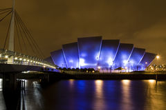 Clyde Auditorium in Glasgow Scotland at night Royalty Free Stock Images