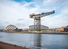 Clyde Auditorium, Hydro Arena and Finnieston crane, Glasgow Royalty Free Stock Photography