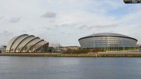 Clyde Auditorium Hydroarena och Finnieston sträcker på halsen, Glasgow stock video