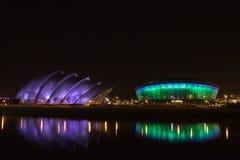 Clyde Auditorium och SSE Hydro Royaltyfri Fotografi
