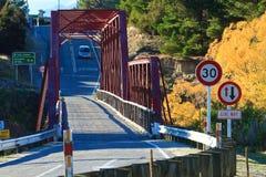 Clyde Bridge op de Clutha-Rivier, Zuideneiland Nieuw Zeeland Royalty-vrije Stock Foto's