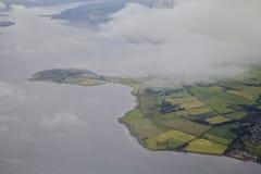 Clyde flod som är västra av Glasgow Royaltyfria Bilder