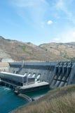 Clyde Power Station Dam, Otago, Zuideneiland, Nieuw Zeeland Stock Afbeelding